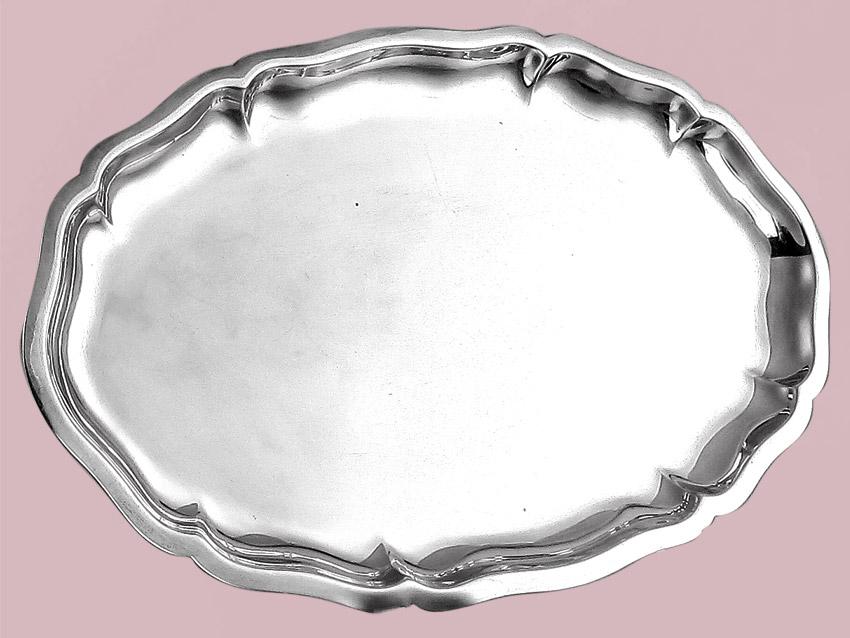 Ovales Tablett Wilkens Silber