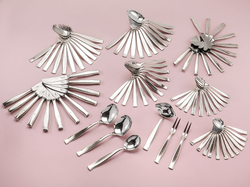 Menu Cutlery Art Dèco GK & F Silver Plated