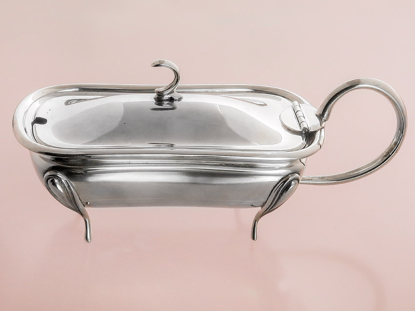 "Spice Salt Bowl probably Italy ""Silver Plated"""