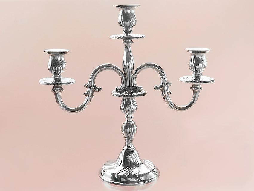 """Three- flamed Candleholder """"Silver"""" Schwäbisch Gmünd"""