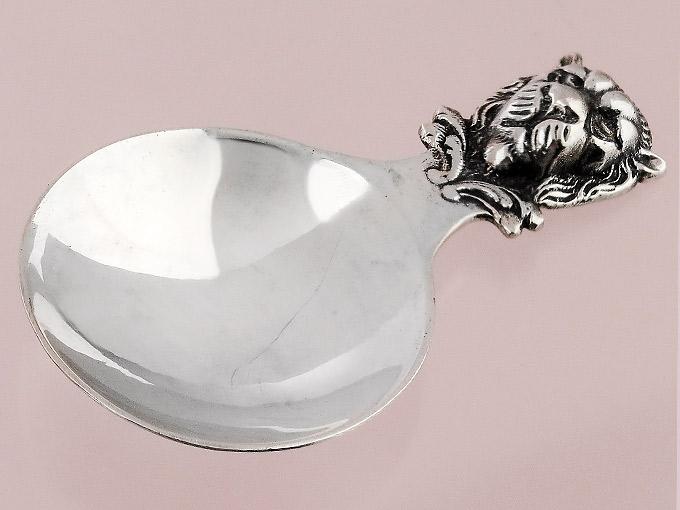 Schnapslöffel Probierlöffel Löwenkopf Hanau 800er Silber