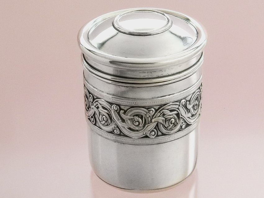 Silver Tin Lid Box 830 Silver