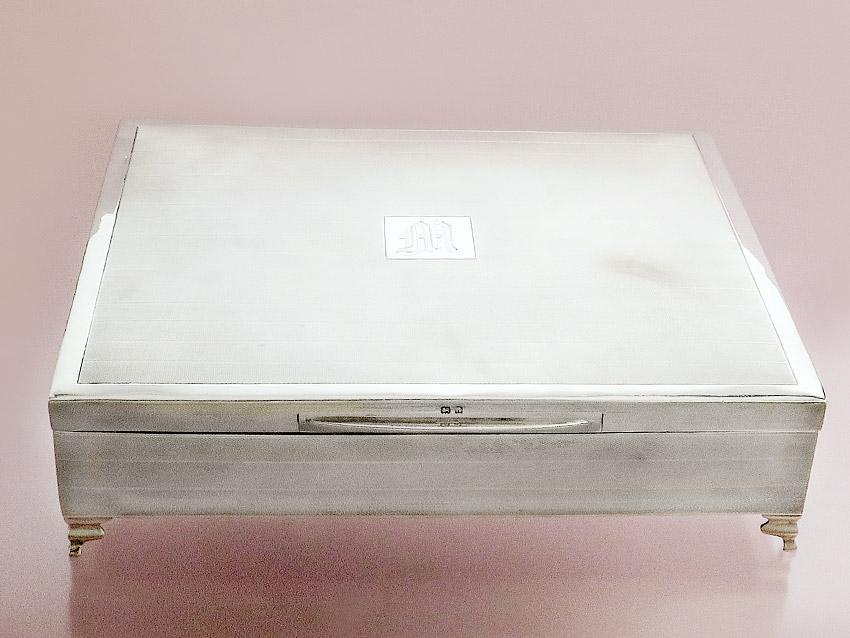 Casket Box Lidded Box 925 Silver Birmingham 1925