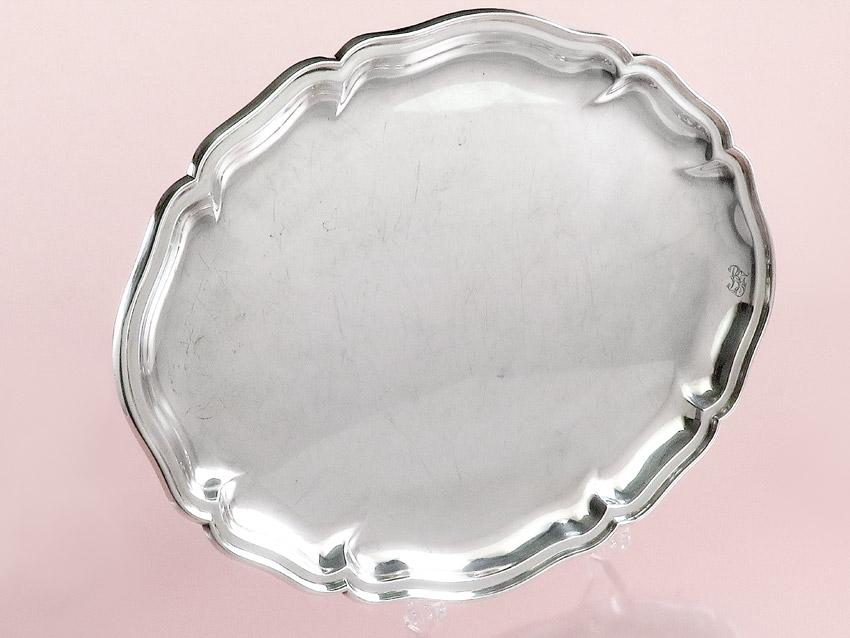 Tablett Wilkens Chippendale Silber