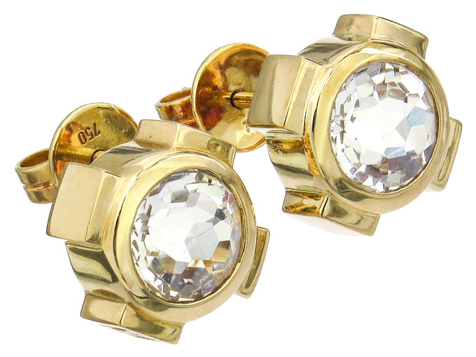 Jette Joop Earrings Colored Stone 18 Karat Yellow Gold