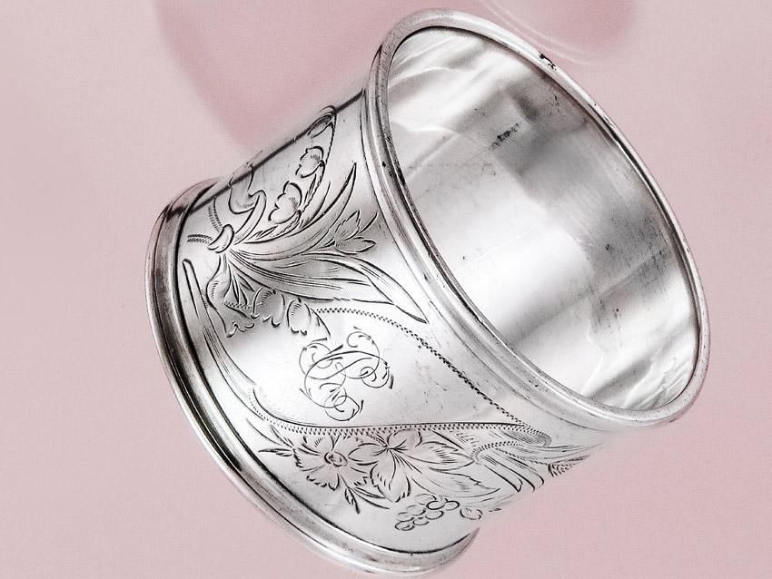Serviettenring Vintage Berlin Silber
