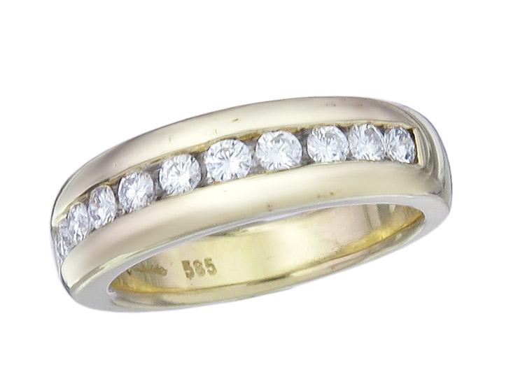 Rüschenbeck Ring Diamonds 14 Karat Yellow Gold