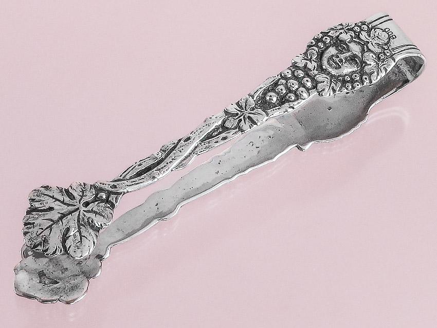 Zuckerzange Historismus 800er Silber