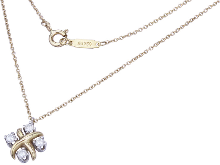 Tiffany & Co. Pendant with Necklace LYNN Design Jean Schlumberger
