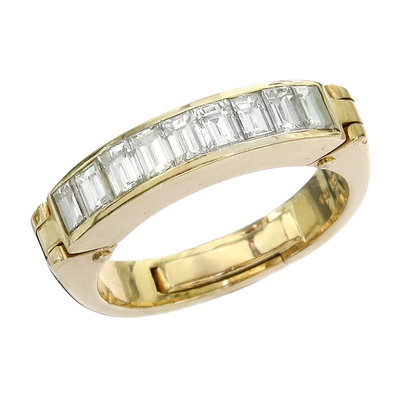 Oeding-Erdel Ring Diamonds 18 Karat Yellow Gold