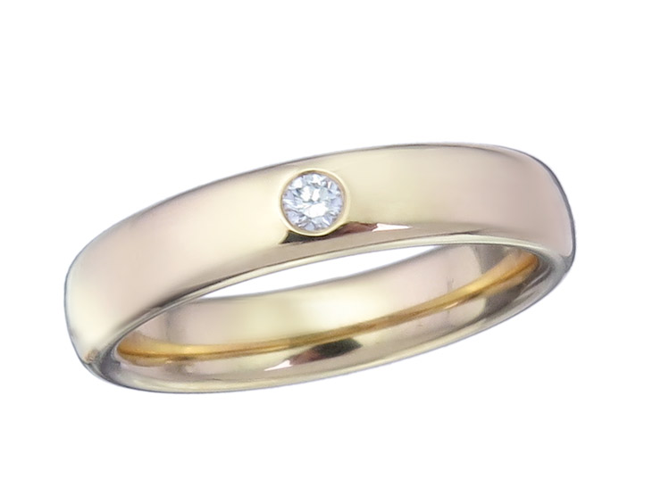 Niessing Ring Brillant 750er Gelbgold