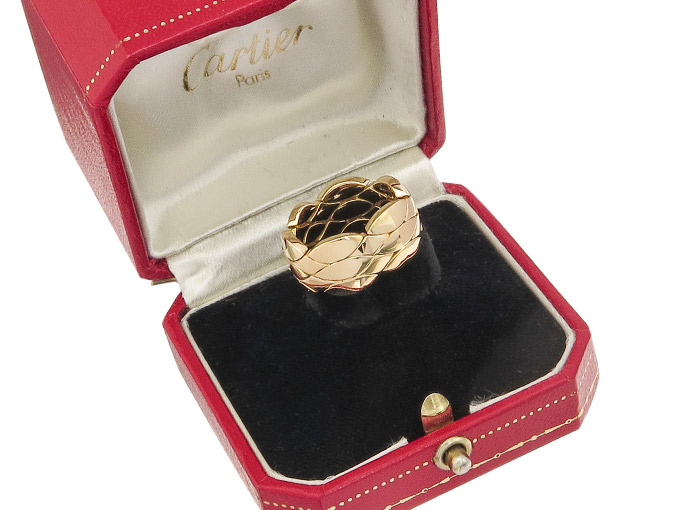 Cartier Ring 18 Karat Yellow Gold Vintage Box