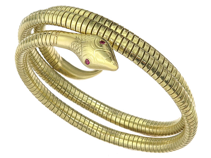Snake Bracelet 14 Karat Yellow Gold