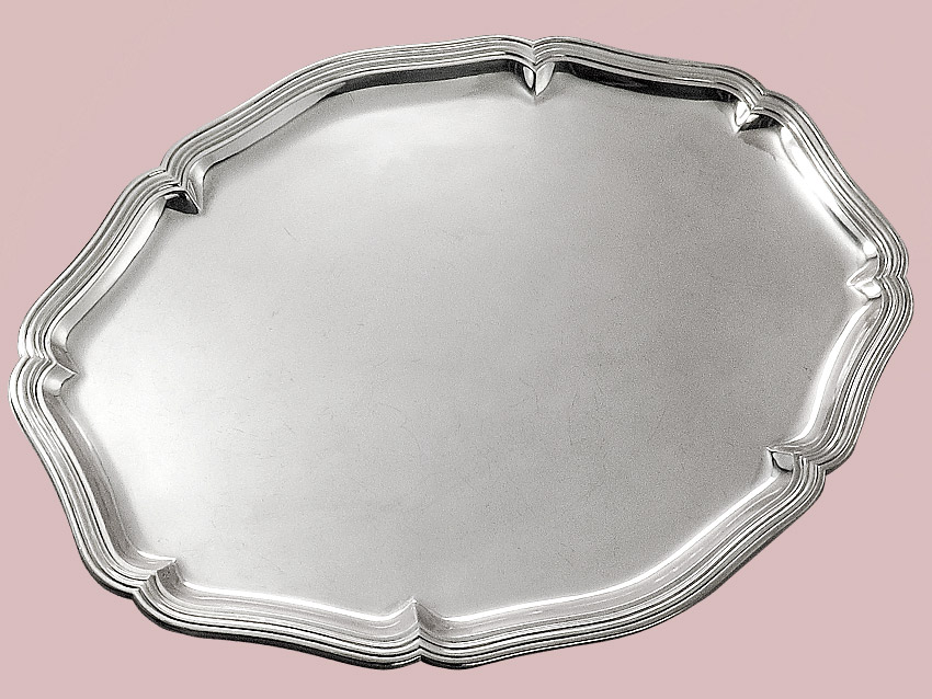 Silver Tray 800 Silver Jewelers Tewes Dortmund