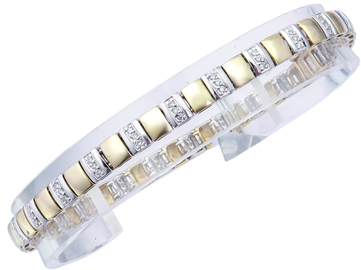 Armband Brillanten 750er Weiß- und Gelbgold