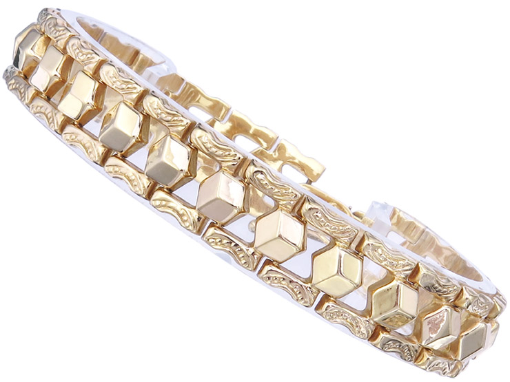 Bracelet 18 Karat Yellow Gold Retro approx. 1940-50