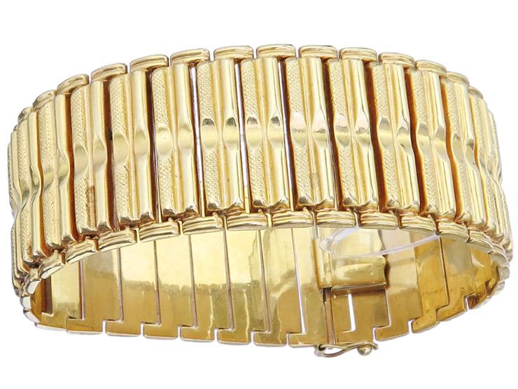 Bracelet 18 Karat Yellow Gold Italy Retro around 1955