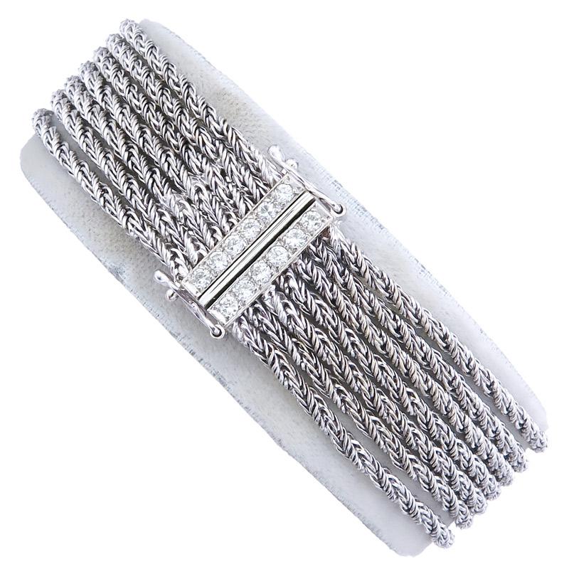 Bracelet Diamonds 14 Karat White Gold