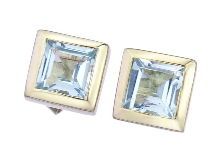 Earrings Topaz 14 Karat Yellow Gold