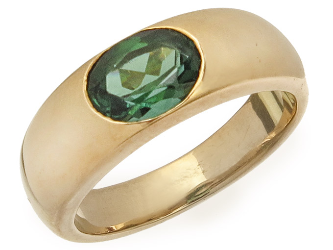 Freisfeld Ring Tourmaline 18 Karat Yellow Gold