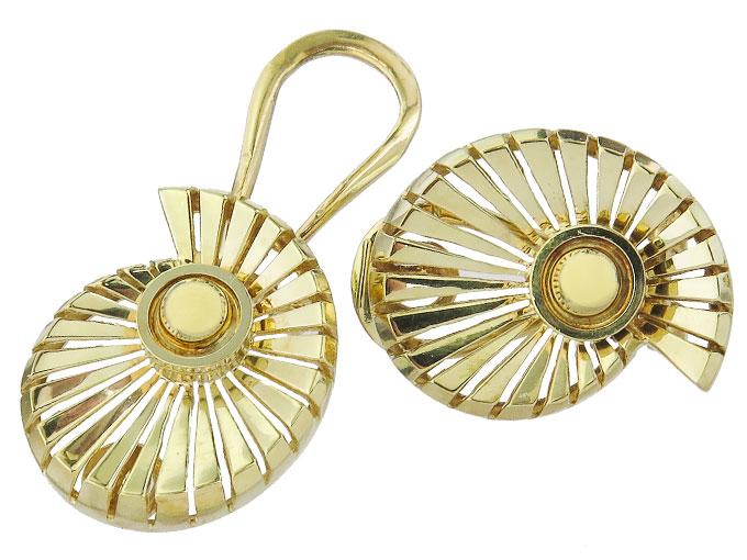 Ohrclips 585er Gelbgold Retro ca. 1940