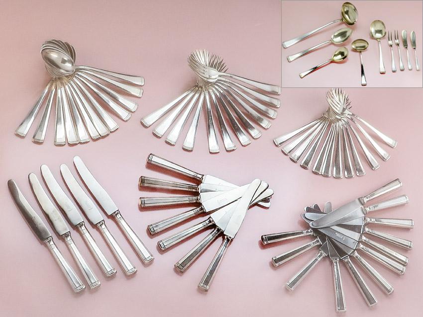 Table Cutlery Art Dèco Silver Plated