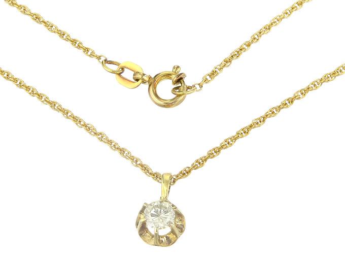 Kette mit Anhänger Gelber Diamant 585er Gelbgold