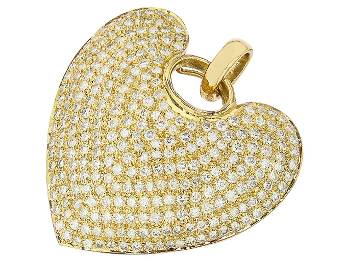 Heart Pendant Diamonds 18 Karat Yellow Gold