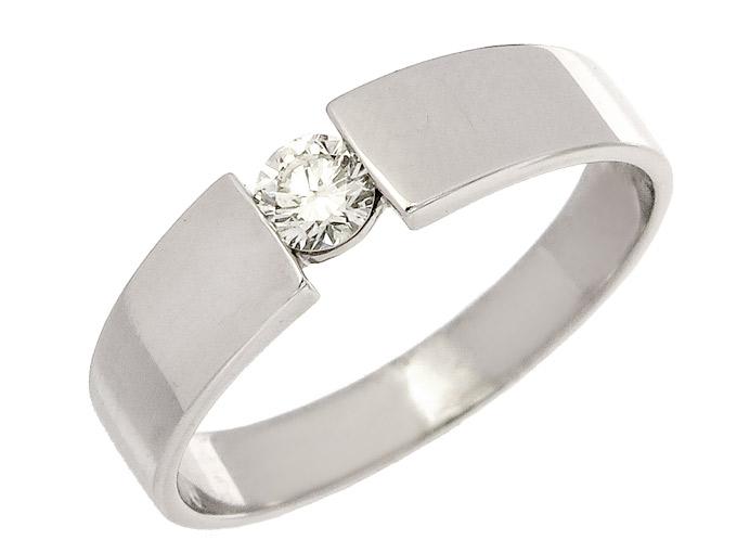 Christ Solitär Ring Brillant 585er Weißgold
