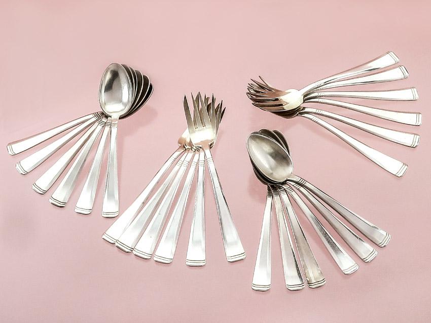 Coffee Cutlery Art Dèco Silver Plated