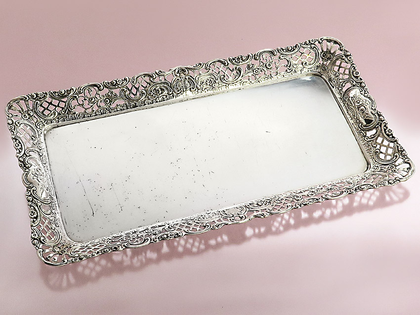 Silver Tray Silver Bowl 800 Silver Antique