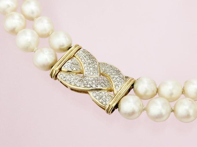 Pearl Collier Diamonds 18 Karat Yellow Gold
