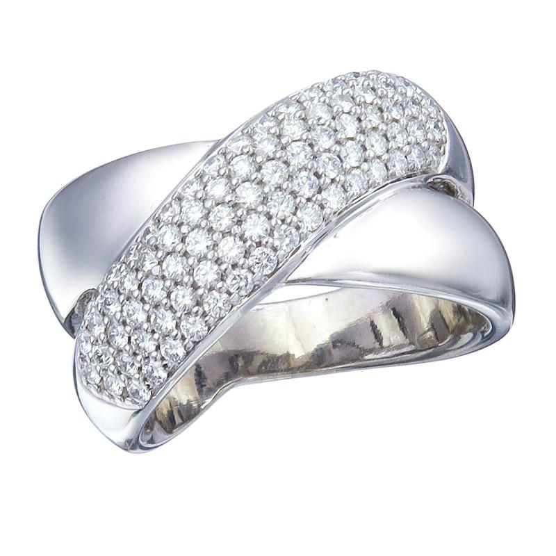 Christ Ring Diamonds 14 Karat White Gold Certificate