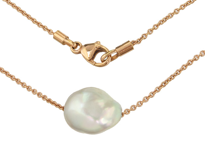 Collier Fresh Water Pearl 18 Karat Rose Gold