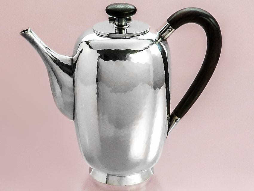 Coffee Pot Mocha Pot Cocoa Pot Bruckmann & Sons 925 Silver around 1930