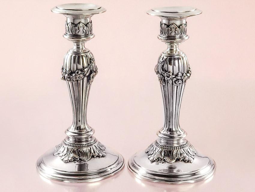Kerzenleuchter Paar Österreich Ungarn Wien 1867-1872