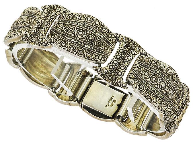 Theodor Fahrner Armband Markasiten 925er Silber