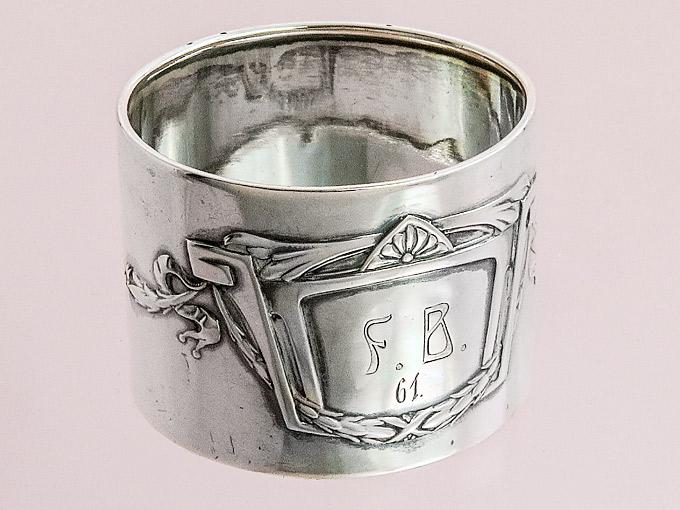 Napkin Ring Art Nouveau Schwäbisch Gmünd Silver