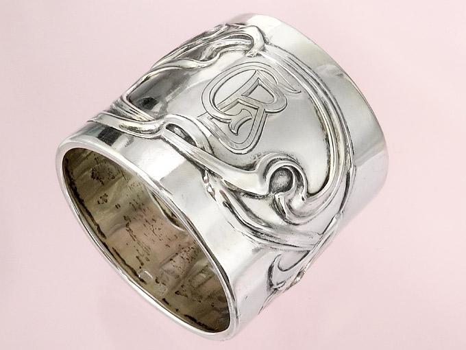 Serviettenring Jugendstil Silber
