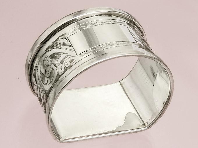 Napkin Ring Birmingham 1933 925 Silver