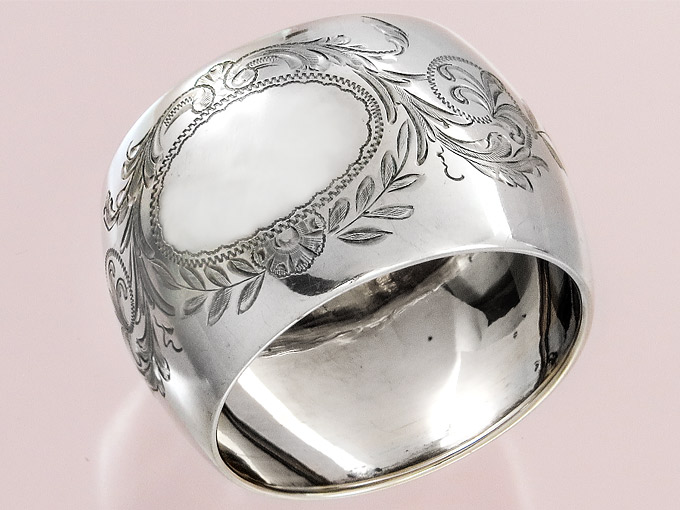 Napkin Ring probably England 830 Silver