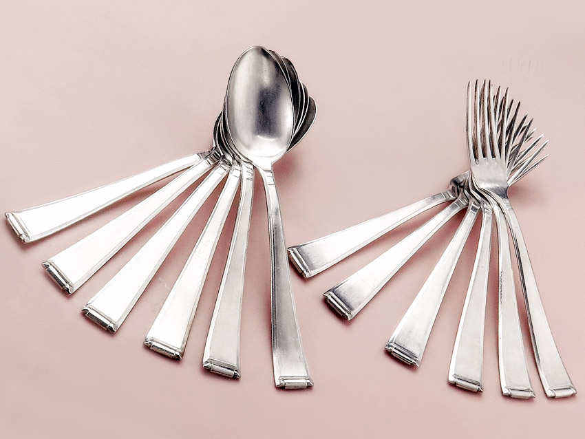 Auerhahn Cutlery Art Déco Silver Plated