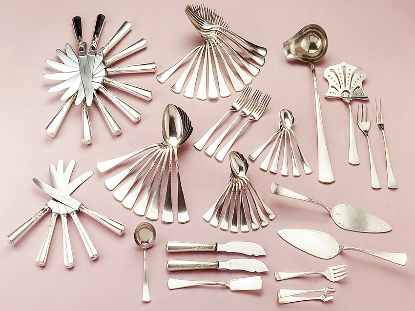 Cutlery Art Nouveau Silver Plated