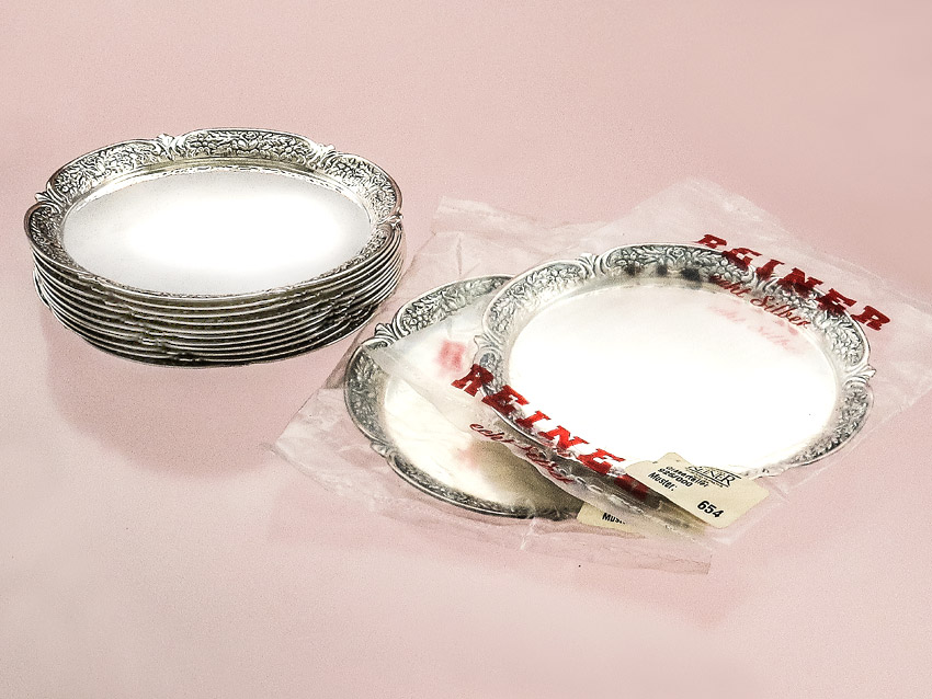 Glass Coasters Bavaria 925 Silver