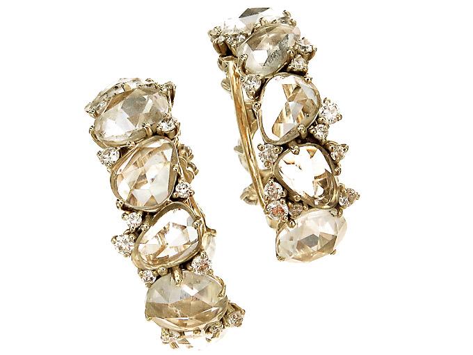 Pomellato LULU Creolen Topase Diamanten 750er Gold Box