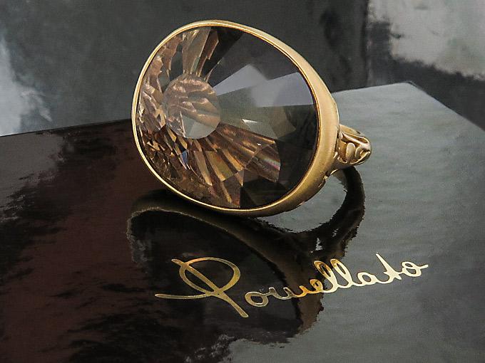 Pomellato ARABESQUE Ring Rauchquarz Mattiertes Rosegold Box