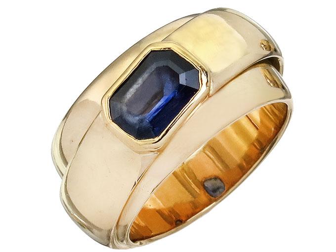 Freisfeld Ring Saphir 750er Gelbgold