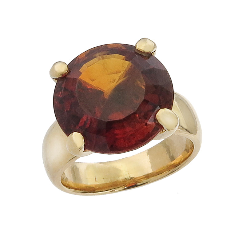 Freisfeld Ring Citrine 18 Karat Yellow Gold