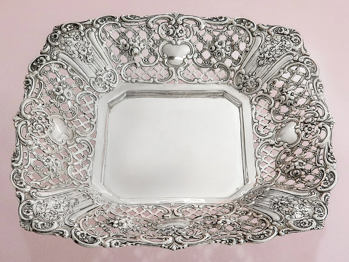 Silver Bowl Fruit Bowl Pastry Bowl 800 Silver