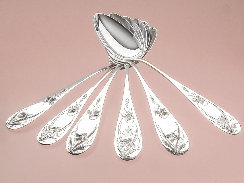 Soup spoon Dinner spoon 800er Silver